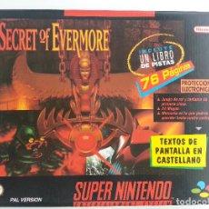 Videogiochi e Consoli: SECRET OF EVERMORE SUPER NINTENDO PAL ESPAÑOL EN EXCELENTE ESTADO DE CONSERVACIÓN. Lote 95661595