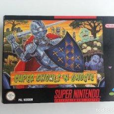 Videojuegos y Consolas: SUPER GHOULS 'N GHOSTS SUPER NINTENDO PAL EN MUY BUEN ESTADO. Lote 155433117