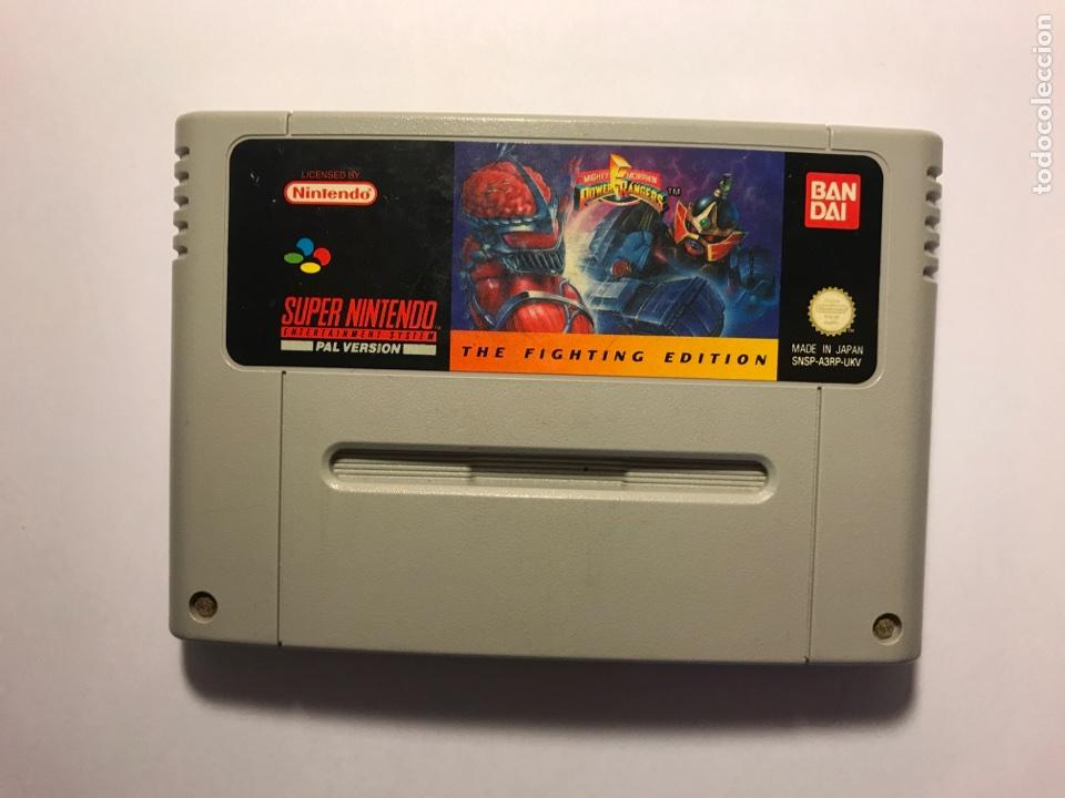 VIDEOJUEGO POWER RANGERS THE FIGHTING EDITION - CARTUCHO SUPER NINTENDO - 1992 (Juguetes - Videojuegos y Consolas - Nintendo - SuperNintendo)