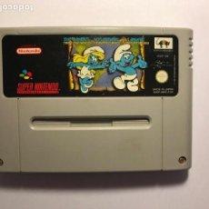 Videojuegos y Consolas: VIDEOJUEGO LOS PITUFOS VIAJAN POR EL MUNDO - CARTUCHO SUPER NINTENDO - 1992. Lote 95732879