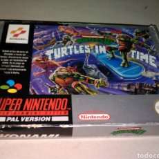 Videojuegos y Consolas: TURTLES IN TIME 4 IV. SUPER NINTENDO. COMPLETO. Lote 96131999