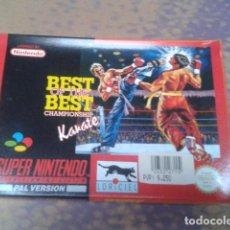 Videojuegos y Consolas: SUPER NINTENDO JUEGO BEST OF THE BEST CHAMPIONSHIP KARATE 1992 COMPLETO. Lote 97376587