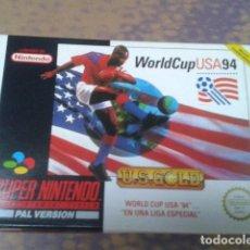 Videojuegos y Consolas: JUEGO WORLD CUP USA 94- U.S. GOLD - EL POSTER Y MANUALES COMPLETO . Lote 97379555