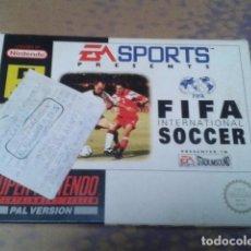 Videojuegos y Consolas: JUEGO SUPER NINTENDO FIFA INTERNACIONAL SOCCER 1994 - EM SPORTS MUY BUENO. Lote 97380995