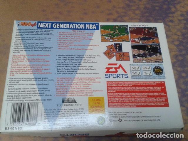Videojuegos y Consolas: JUEGO SUPER NINTENDO NBA LIVE 96 - NEXT GENERATION NBA DE 1995 - EM SPORTS ( SNSP P A6BP ) COMPLETO - Foto 3 - 97381711