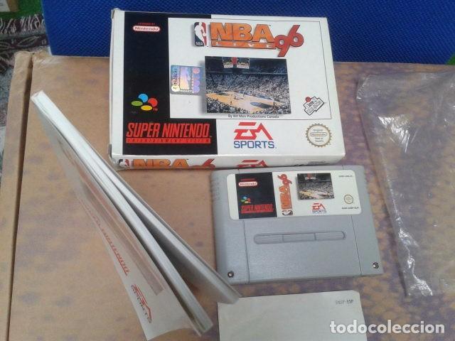 Videojuegos y Consolas: JUEGO SUPER NINTENDO NBA LIVE 96 - NEXT GENERATION NBA DE 1995 - EM SPORTS ( SNSP P A6BP ) COMPLETO - Foto 5 - 97381711