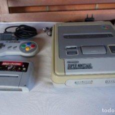 Videojuegos y Consolas: CONSOLA SUPERNINTENDO SNES PAL ES + MANDO + CABLES Y JUEGO. Lote 97527855