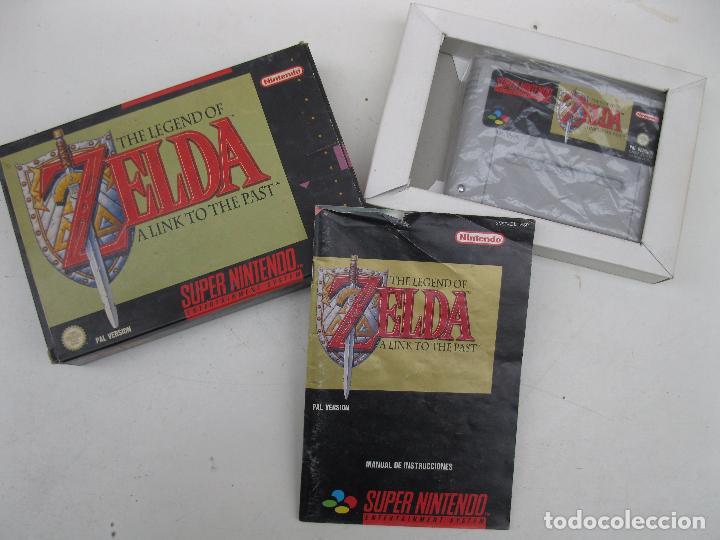 Videojuegos y Consolas: THE LEGEND OF ZELDA - A LINK TO THE PAST - SUPER NINTENDO - PAL - EN CAJA Y CON INSTRUCCIONES. - Foto 2 - 97915139