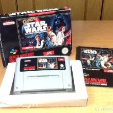 Videojuegos y Consolas: SUPER STAR WARS PARA SUPER NINTENDO SNES NES PAL COMPLETO VERSIÓN ESPAÑOLA. Lote 97965427