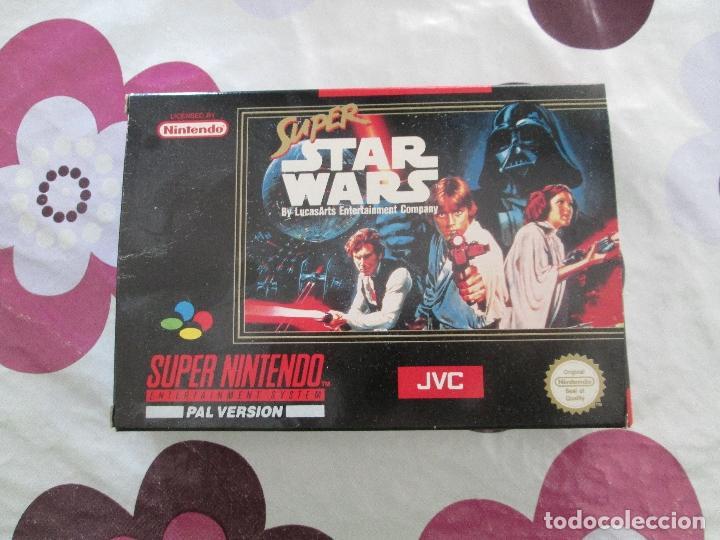 SUPER STAR WARS SUPER NINTENDO SNES PAL ESP (Juguetes - Videojuegos y Consolas - Nintendo - SuperNintendo)