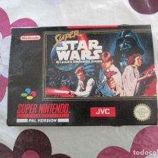 Videojuegos y Consolas: SUPER STAR WARS SUPER NINTENDO SNES PAL ESP. Lote 98133855