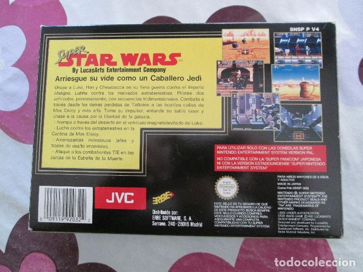 Videojuegos y Consolas: SUPER STAR WARS SUPER NINTENDO SNES PAL ESP - Foto 2 - 98133855