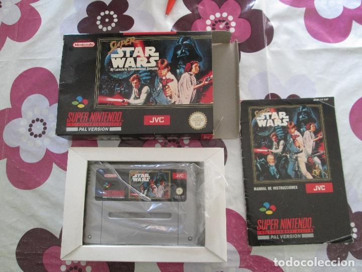 Videojuegos y Consolas: SUPER STAR WARS SUPER NINTENDO SNES PAL ESP - Foto 3 - 98133855