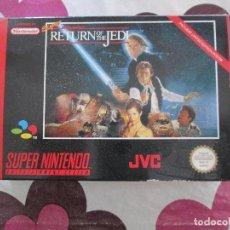 Videojuegos y Consolas: SUPER STAR WARS RETURN OF THE JEDI SUPER NINTENDO SNES PAL EUR. Lote 98134503