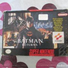Videojuegos y Consolas: BATMAN RETURNS SUPER NINTENDO SNES NTSC. Lote 98139551