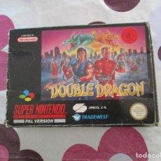 Videojuegos y Consolas: SUPER DOUBLE DRAGON SUPER NINTENDO SNES PAL ESP. Lote 98139999
