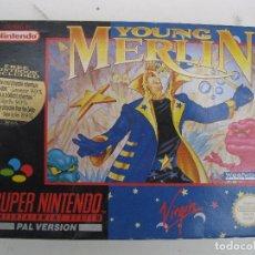 Videojuegos y Consolas: YOUNG MERLIN - SUPER NINTENDO - PAL VERSION - EN CAJA Y CON INSTRUCCIONES.. Lote 98141959