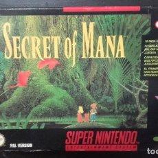 Videojuegos y Consolas: SECRET OF MANA PAL ESPAÑA. Lote 100878831
