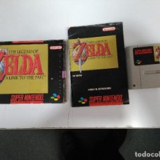 Videojuegos y Consolas: SUPER NINTENDO THE LEGEND OF ZELDA JUEGO Y INSTRUCCIONES DE USO EN CAJA ORIGINAL 1992. Lote 101024883