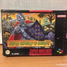 Videojuegos y Consolas: SUPER GHOULS 'N GHOSTS SUPER NINTENDO SNES. Lote 101033030
