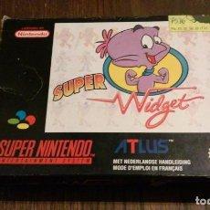 Videojuegos y Consolas: SUPER WIDGET SUPER NINTENDO. Lote 101104811