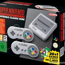 Videojuegos y Consolas: SUPER NINTENDO CLASSIC MINI ORIGINAL NUEVA 200 JUEGOS. Lote 101225743