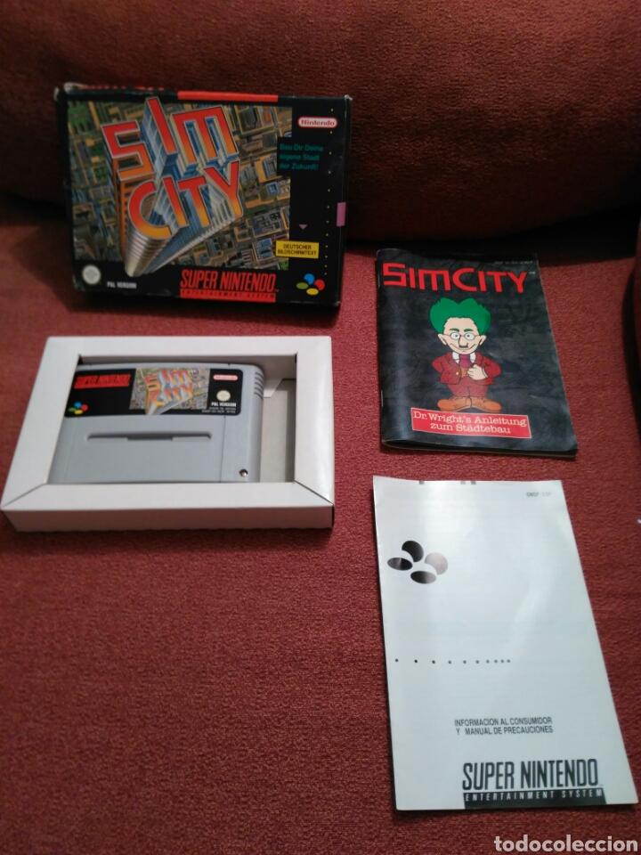 SIM CITY SIMCITY SUPER NINTENDO SNES COMPLETO (Juguetes - Videojuegos y Consolas - Nintendo - SuperNintendo)