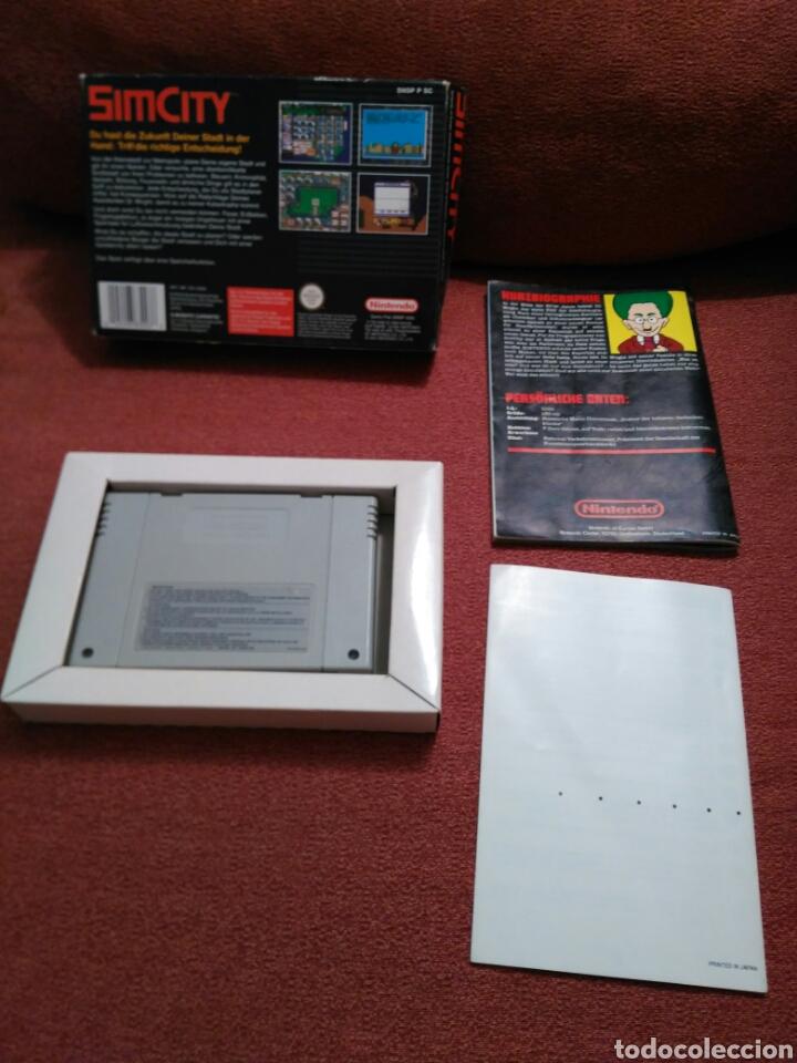 Videojuegos y Consolas: SIM CITY SIMCITY SUPER NINTENDO SNES COMPLETO - Foto 2 - 101413802