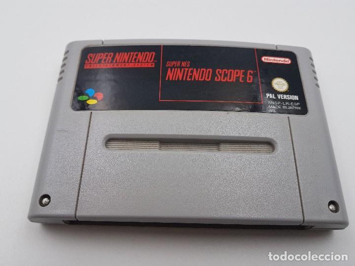 JUEGO NINTENDO SCOPE 6 SUPER NINTENDO NES ESPAÑA SNES PAL.COMBINO ENVIO (Juguetes - Videojuegos y Consolas - Nintendo - SuperNintendo)