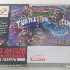 Videojuegos y Consolas: ANTIGUO JUEGO SUPER NINTENDO ORIGINAL AL 100% TURTLES IN TIME. Lote 102645327
