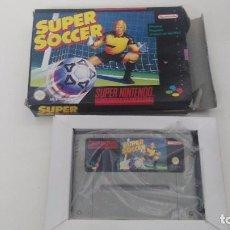 Videojuegos y Consolas: ANTIGUO JUEGO SUPER NINTENDO ORIGINAL AL 100% SUPER SOCCER . Lote 102645667