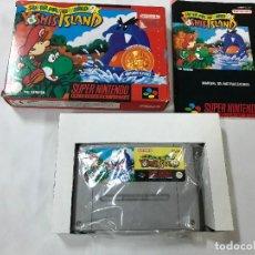 Videojuegos y Consolas: SUPER MARIO 2 YOSHIS ISLAND - CAJA Y M. INSTRUCCIONES EN ESPAÑO- SUPER NINTENDO SNES PAL ESPAÑA 1993. Lote 103632995