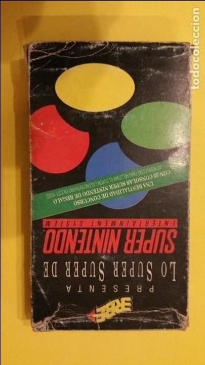 VHS PROMOCIONAL SUPER NINTENDO, ERBE (Juguetes - Videojuegos y Consolas - Nintendo - SuperNintendo)