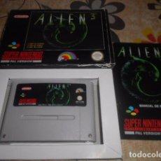 Videojuegos y Consolas: JUEGO SUPER NINTENDO - ALIEN 3 - CON CAJA Y INSTRUCCIONES - VER FOTOS. Lote 103789147