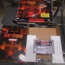 Videojuegos y Consolas: JUEGO SUPER NINTENDO - SECRET OF EVERMORE - CON CAJA Y LIBRO DE PISTAS - VER FOTOS. Lote 103790123