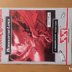 Videojuegos y Consolas: MANUAL ADVANCED DUNGEONS & DRAGONS HEROES OF THE LANCE FAMICOM. Lote 103843195