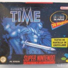 Videojuegos y Consolas: ILLUSION OF TIME - SUPER NINTENDO - SNES - PAL VERSION - EN CAJA Y CON LIBRO DE PISTAS.. Lote 104297155