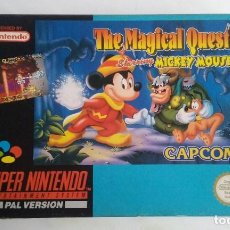 Videojuegos y Consolas: THE MAGICAL QUEST/MICKEY MOUSE/ SUPERNINTENDO PAL VERSION.. Lote 106122295
