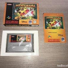 Videojuegos y Consolas: MICKEY MANIA PAL ESP EUR COMPLETO SNES SUPER NINTENDO CON CAJA Y MANUAL. Lote 106357559