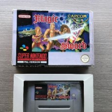 Videojuegos y Consolas: MAGIC SWORD SUPER NINTENDO SNES CON CAJA ORIGINAL PAL. Lote 106364651