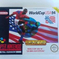 Videojuegos y Consolas: JUEGO SUPER NINTENDO -SNES- WORLDCUP USA94. Lote 106557340