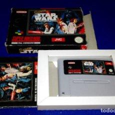 Videojuegos y Consolas: SUPER NINTENDO --- SUPER STAR WARS (COMPLETO). Lote 107544335