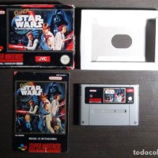 Videojuegos y Consolas: JUEGO SUPER STAR WARS SNES NINTENDO SUPERNINTENDO CON CAJA E INSTRUCCIONES. Lote 107783807