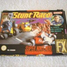 Videojuegos y Consolas: JUEGO COMPLETO SNES SUPER NINTENDO: STUNT RACE CON CAJA E INSTRUCCIONES - PAL. Lote 108610435