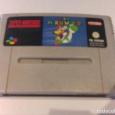 Videojuegos y Consolas: SUPER MARIO WORLD SNES SUPER NINTENDO PAL-ESPAÑA. Lote 109072647