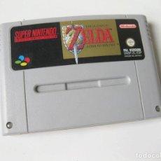 Videojogos e Consolas: CARTUCHO DEL JUEGO SUPER NINTENDO NES THE LEGEND OF ZELDA PAL VERSON - FUNCIONANDO. Lote 234759085