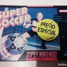 Videojuegos y Consolas: JUEGO SUPER SOCCER. SUPER NES SUPER NINTENDO. NUEVO PRECINTADO. VERSIÓN PAL. Lote 114107835