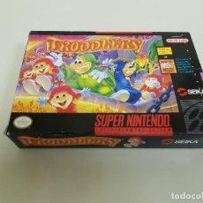 Videojuegos y Consolas: 318- TRODDLERS SUPER NINTENDO SOLO CAJA ONLY BOX ORIGINAL. Lote 114244399