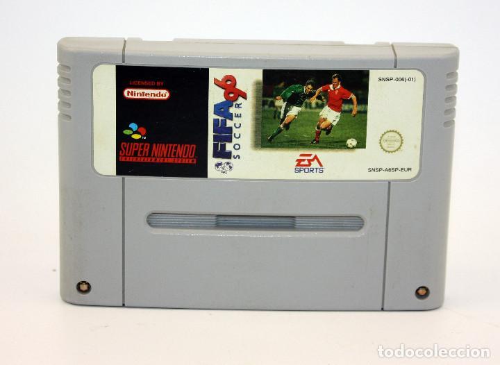 FIFA 96 - VIDEOJUEGO PARA SUPERNINTENDO SUPER NINTENDO - FUNCIONANDO (Juguetes - Videojuegos y Consolas - Nintendo - SuperNintendo)