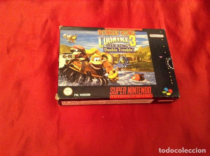 DONKEY KONG COUNTRY 3 COMPLETO (Juguetes - Videojuegos y Consolas - Nintendo - SuperNintendo)